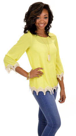 Sweet Annie Top, Yellow