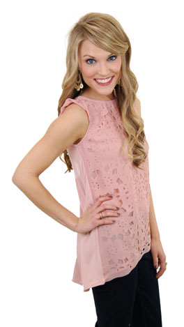 Lace of the Future Top, Blush