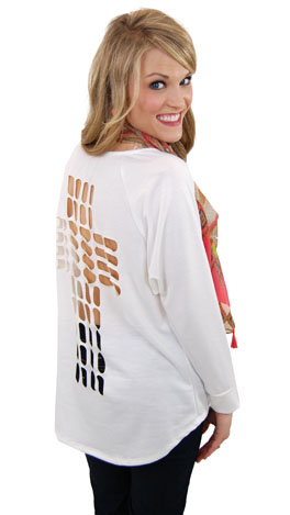 Cut Out Cross Sweatshirt