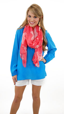 Lilly Pulitzer Elsa Top, Flutter Blue