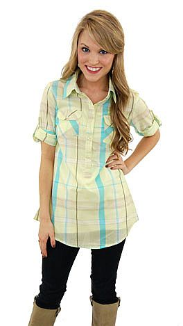 Lilly Plaid Top, Yellow