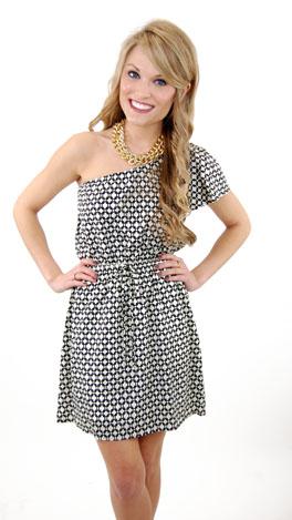 KARLIE Black & White Issue Dress