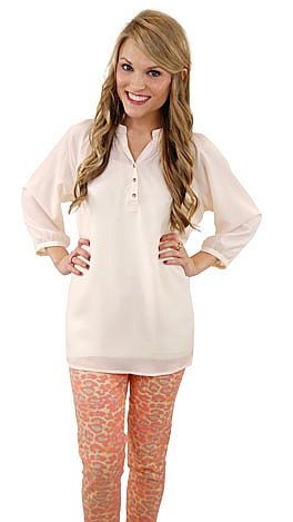 Here To Stay-ple Blouse, Ivory