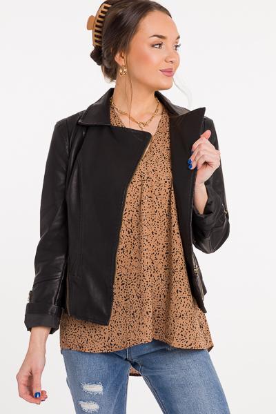 Zip It Leather Jacket