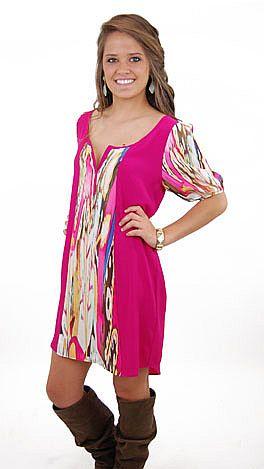Fuchsia Feud Dress