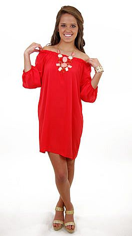 Shanda Dress, Red