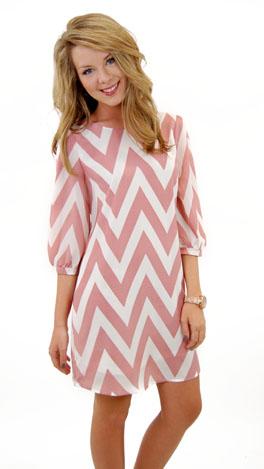 Blush Chevron Dress