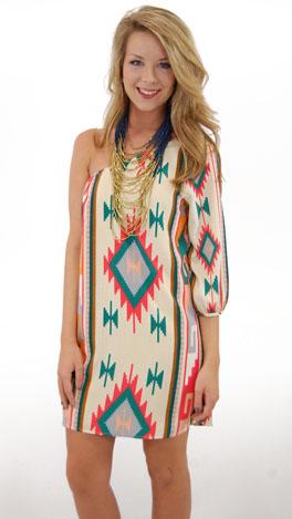 Solo Sleeve Dress, Ivory