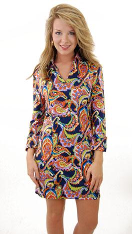 Lana Watercolor Shirt Dress
