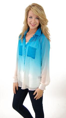 Dip Dye Boyfriend Shirt