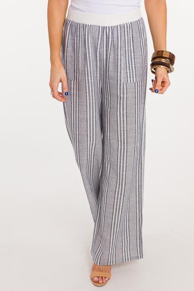 Stretch Waist Stripe Pants