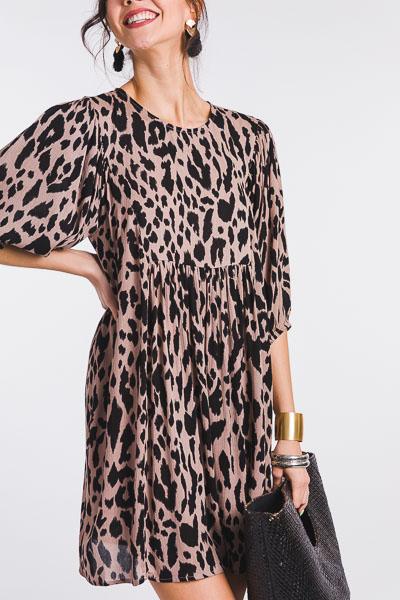 Cheetah Print Rayon Dress, Coco