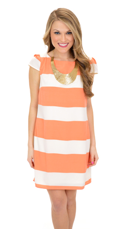 Peach Lanes Dress