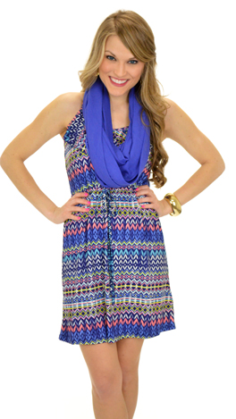 Blue Out of Proportion Dress