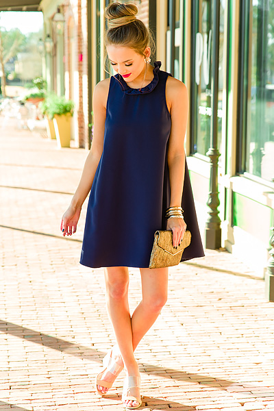 Juliette Dress, Navy