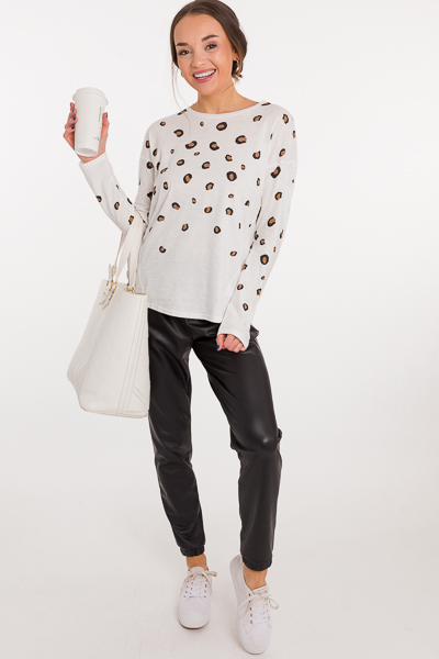 Cheetah Cotton LS Tee