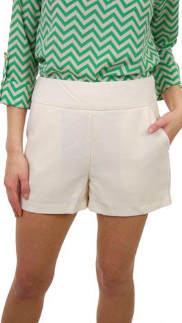 Flat Front Shorts, Ivory