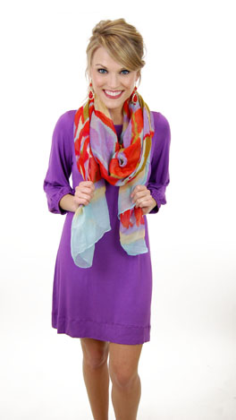 Basic Boatneck Tunic, Amethyst