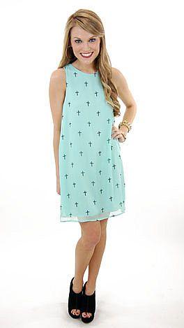 Mint Crosses Dress