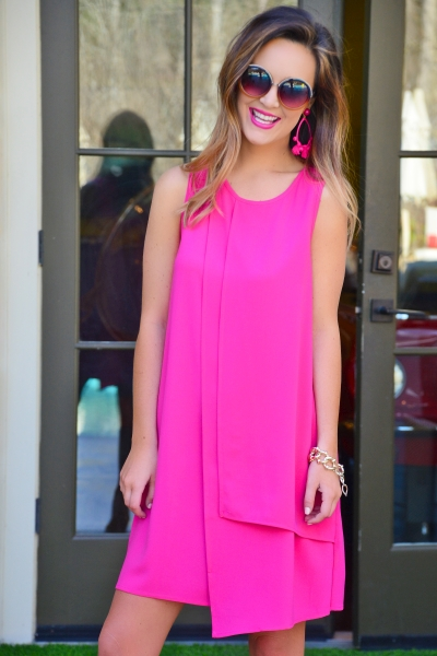 Elizabeth Panel Dress, Pink