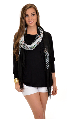 Lace Pocket Tee, Black