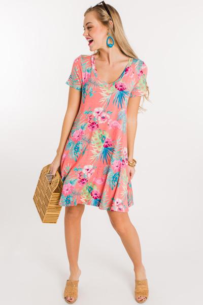 Flamingle With Me Knit Dress