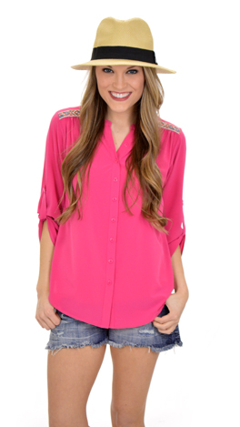 All the Trimmings Top, Pink
