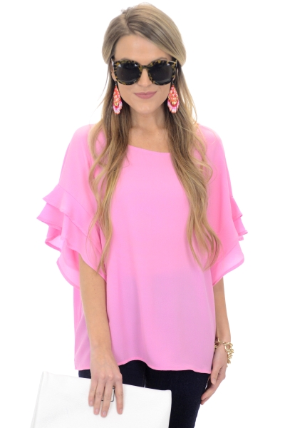 Eliza Top, Pink