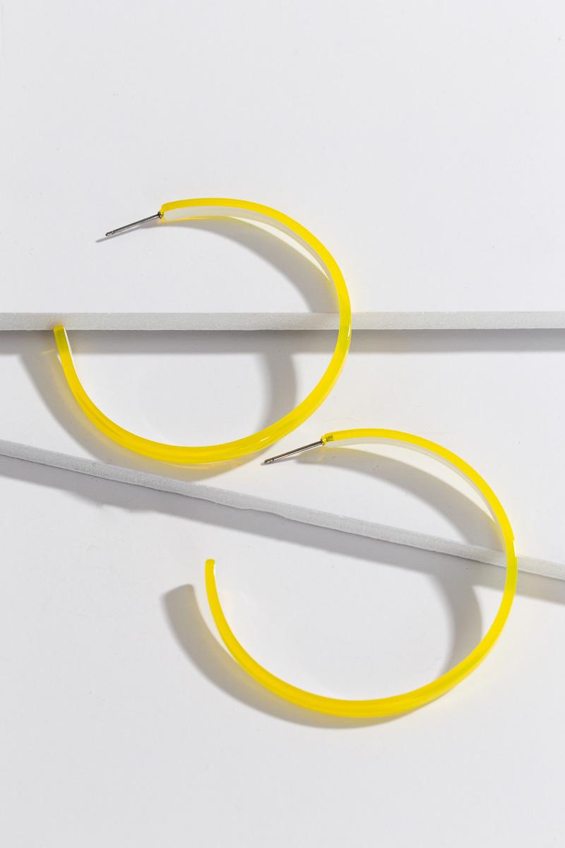 Neon Hoop, Yellow