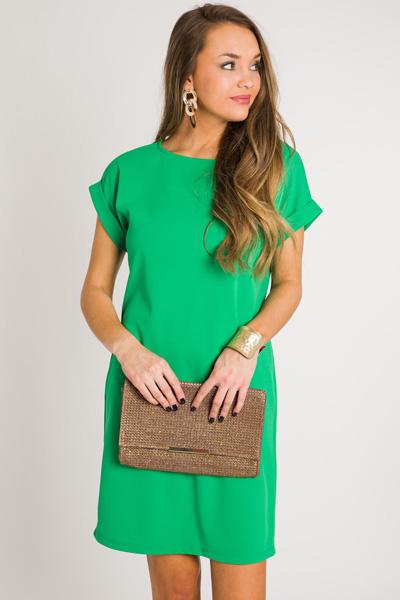 Emma Pocket Dress, Emerald