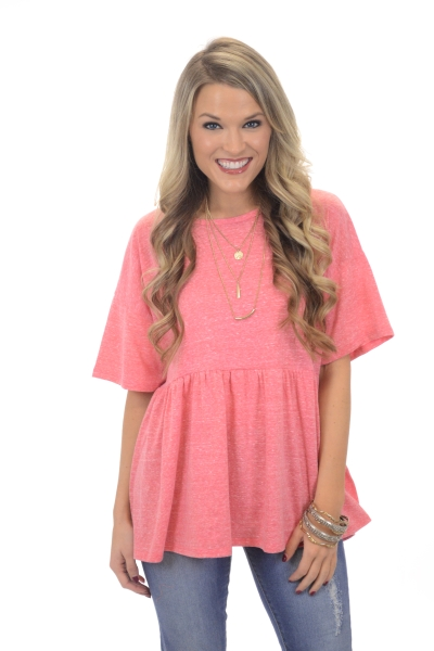 Be You Babydoll Top, Pink