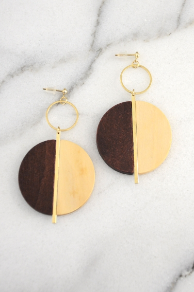 Wood Love to Earring, Natural