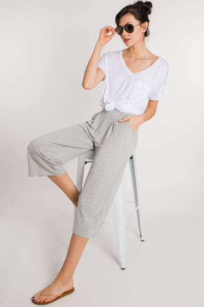 Comfy Casual Pants, Grey