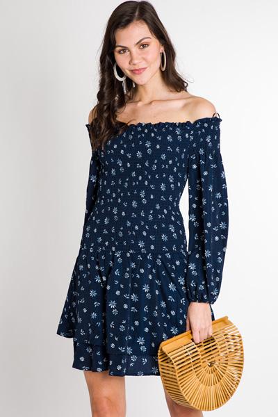 Smocked Top Floral Dress