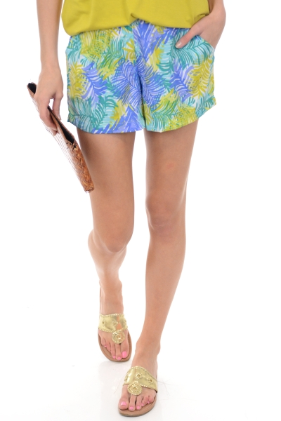 Nina Pull On Shorts, Palms