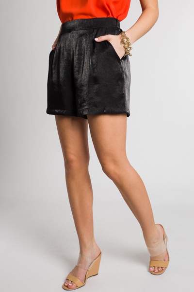 Get Your Shine On Shorts, Black
