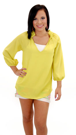 Jack & Diane Top, Chartreuse