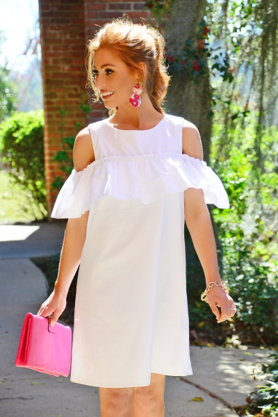 Blew Me Away Dress, White