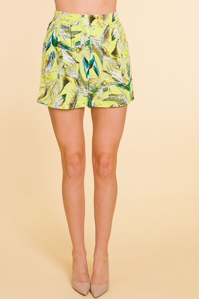 Lime Light Tropical Shorts
