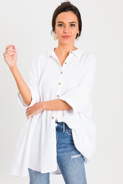 Pocket Side Tunic, White