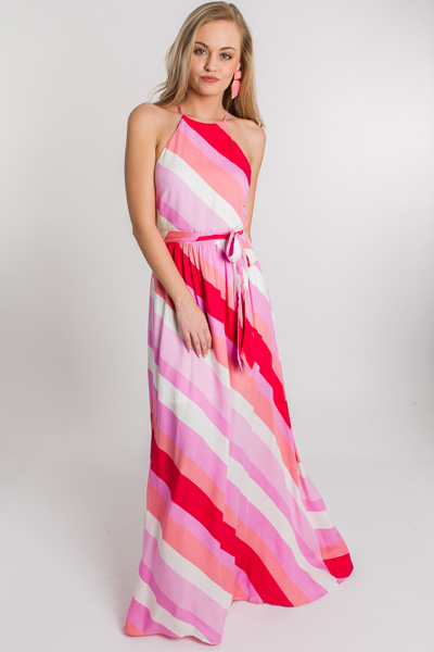 Stripes of Pink Maxi