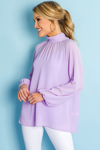 Newer Look Mock Neck, Lilac