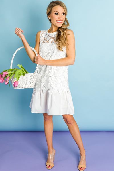 White Layers Lace Dress