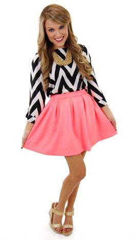 Neon Scuba Skirt