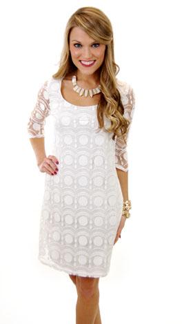 Shirley Dress, White