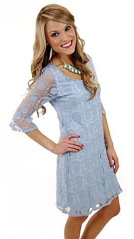 Shirley Dress, Blue
