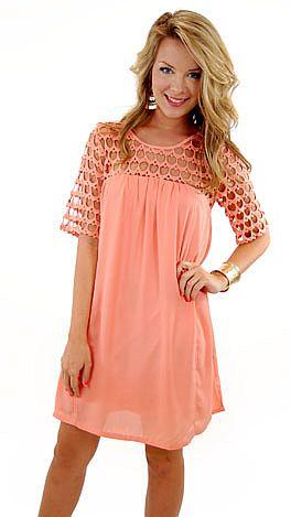 Stella Dress, Peach
