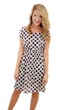 Blot Your Dot Dress, Navy