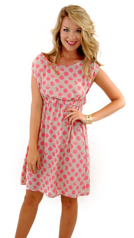 Blot Your Dot Dress, Pink
