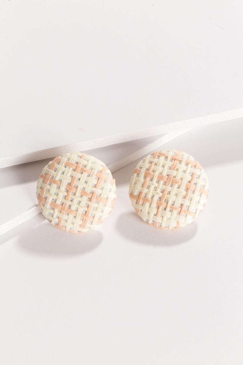 Basket Weave Post Earrings